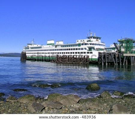 Washington State Super-Ferry - stock photo