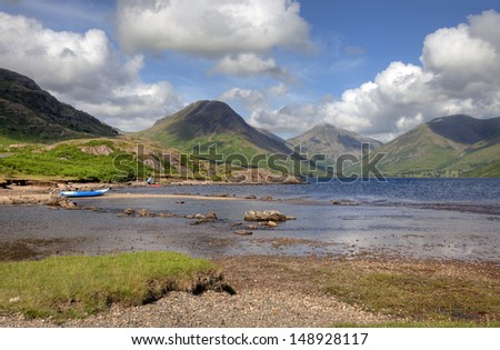 Wast Water in Summer, Cumbria, England - stock photo