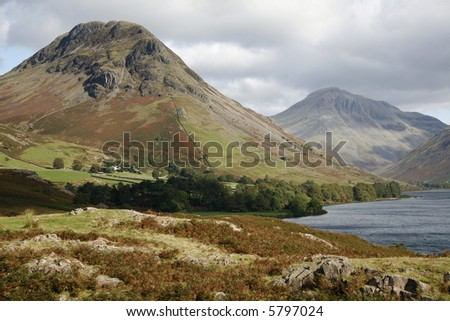 Wast Water lake. - stock photo