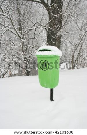 waste bin - stock photo