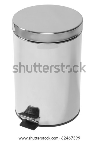 Waste can. Isolated - stock photo