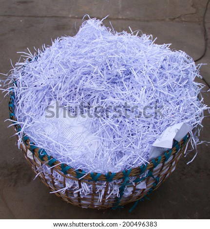 waste for recycling  at a factory - stock photo