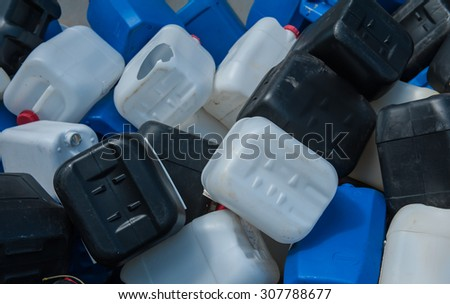 Waste from Electrical Blackout plastic scrap and paper mill waste to be recycled.  - stock photo