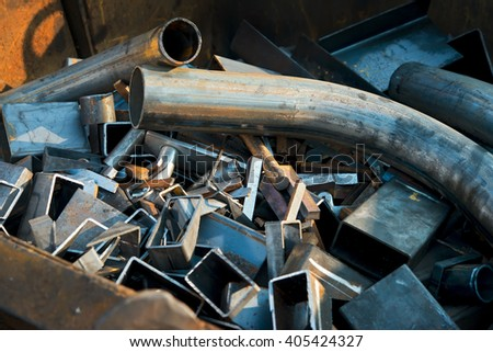waste metal, steel production - stock photo