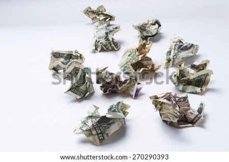 Wasted Money - stock photo