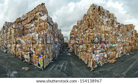 Wastepaper for Recycling - stock photo