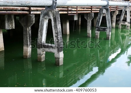 Wastewater before the Waste Water Treatment process - stock photo