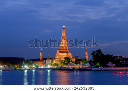 Wat Arun at night - stock photo