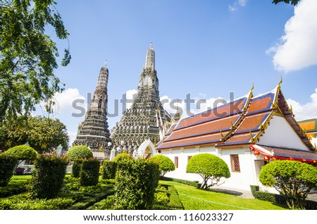 Wat Arun Bangkok, Thailand. - stock photo