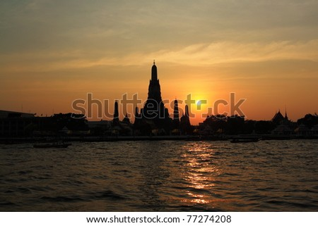 Wat arun, Bangkok, Thailand. - stock photo