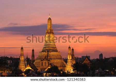 Wat Arun in Bangkok, Thailand - stock photo
