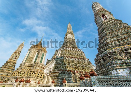 Wat Arun in Bangkok, Thailand - stock photo