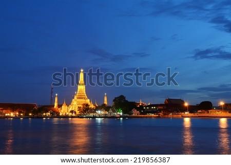 Wat Arun Temple in Bangkok Thailand. - stock photo