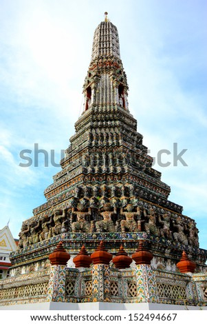 Wat Arun, Thailand - stock photo