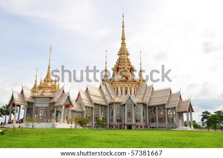 wat luang phor tor in thailand - stock photo