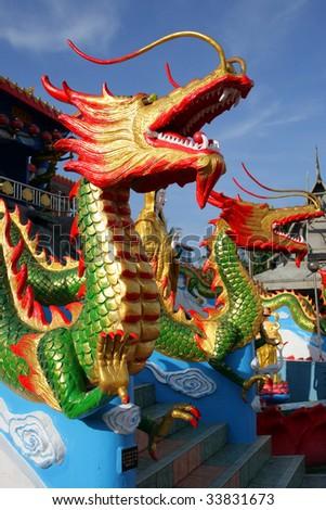 Wat Mai Suvankhiri (Dragon Boat temple), Kelantan, Malaysia - stock photo