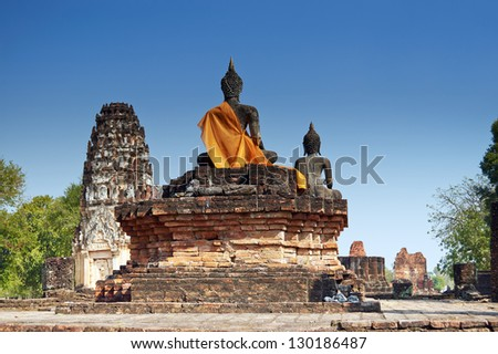Wat Phra Phai Luang in Sukhothai Historical Park (Thailand) - stock photo