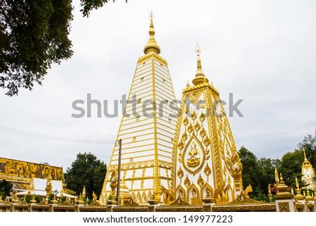 Wat Phrathat Nong Bua in Ubon Ratchathani province, Thailand - stock photo