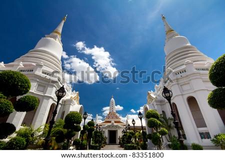 Wat Pichaya Yatikaram, Bangkok, Thailand - stock photo