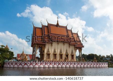 Wat Plai Laem in Koh Samui, Thailand - stock photo