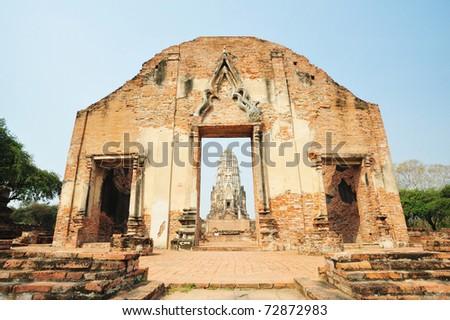 Wat Ratchaburana Ayutthaya  Thailand - stock photo