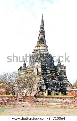 Wat Thai In Ayutthaya. Traditional Culture in Asia - stock photo