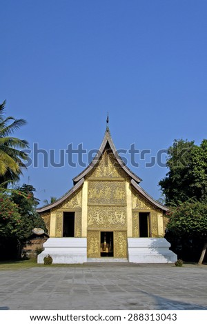 Wat Xien Thong temple Laos - stock photo