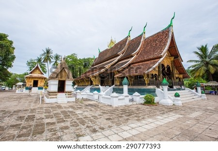 wat Xieng Thong in Luang Prabang , Laos - stock photo