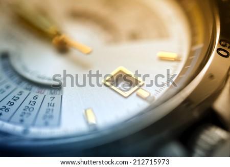 Watch closeup - stock photo