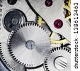 watch gears very close up - stock photo