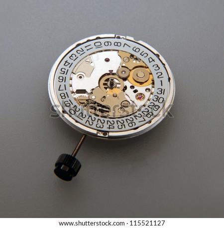 Watch mechanical inner ring - stock photo