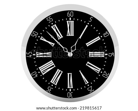 Watch silver pocket vintage isolated illustration - stock photo