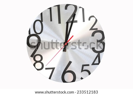 Watch stopwatch graphic element white background  - stock photo