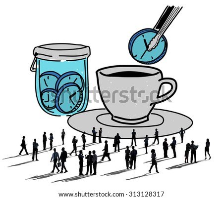 Watch Timer Allocate Time Management Concept - stock photo