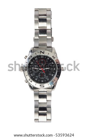 Watches isolated on white - stock photo