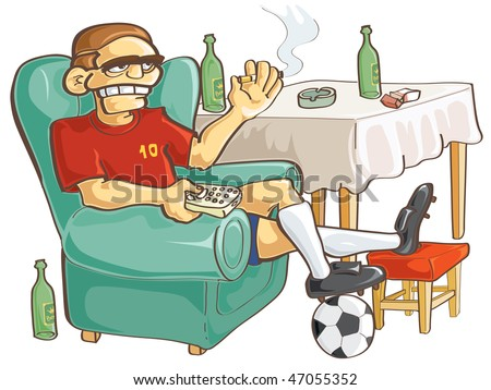 Watching football.  JPEG version. - stock photo