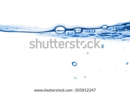 Water abstract background. A bubbles on a clear liquid surface - stock photo