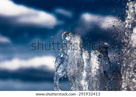 Water against the sky - stock photo