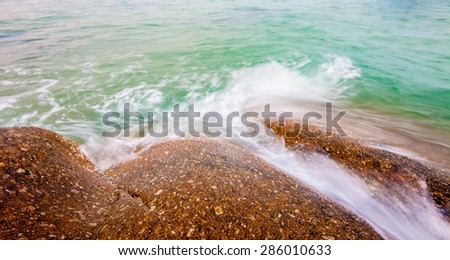 water and stone - stock photo