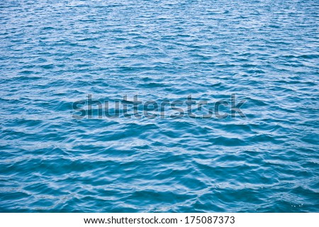 water background - tranquil blue waves of the sea - stock photo