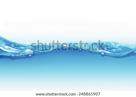 water background with air bubbles - stock photo