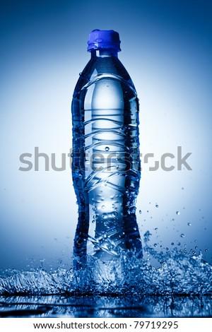 Water bottle - stock photo