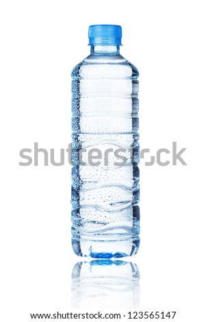Water bottle isolate on white background - stock photo