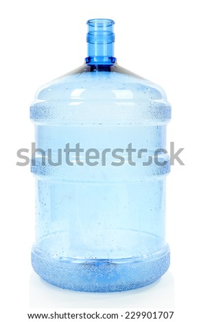 Water bottle isolated on white - stock photo