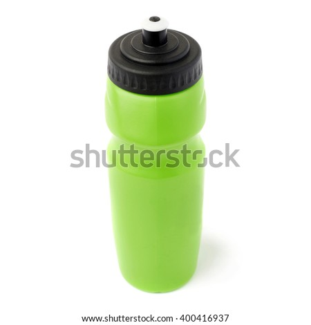 Water bottle isolated over the white background - stock photo