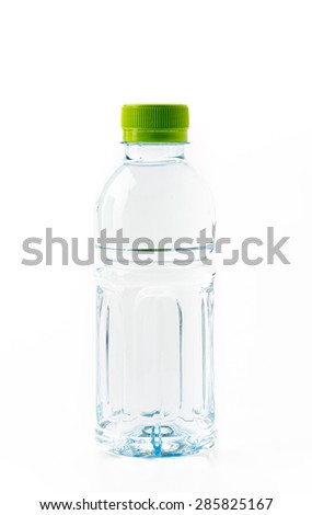 water bottle on white background - stock photo