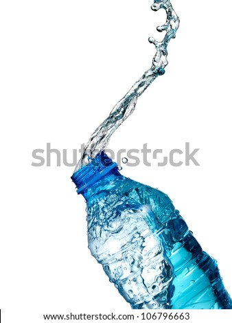 Water bottle up - stock photo