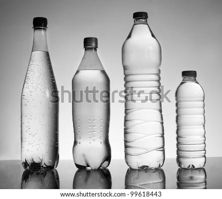 Water bottles black an...