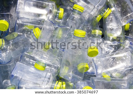 water bottles for recycle - stock photo