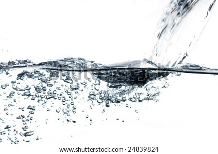 Water bubbles - stock photo
